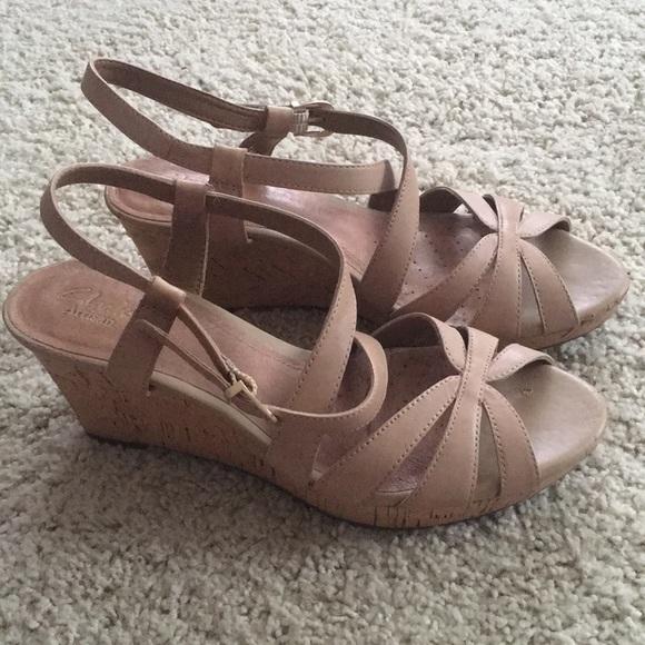e5968f652f41 Clarks Shoes - Clarks Artisan cork wedge sandals